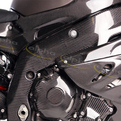 alpha Racing Carbon Frame Covers Kit BMW S1000 RR/HP4 (2012-2014)