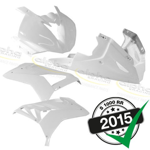 alpha Racing GRP 4 Pc. Fairing Kit BMW S1000RR (2015-) FIM Legal