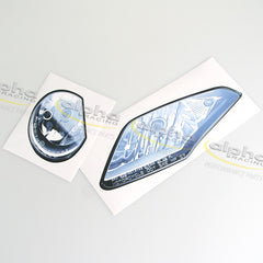 alpha Racing WSBK Headlights Sticker Kit BMW S1000RR (2010-2014)