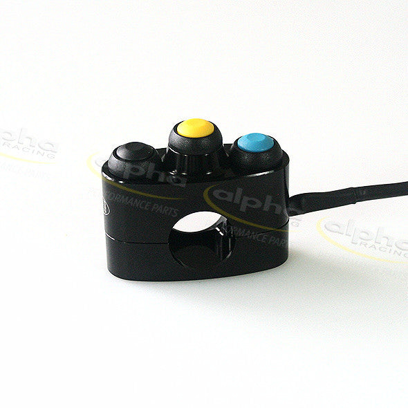 alpha Racing Left Switch Unit 3 Mono Buttons for (2015-) BMW S1000RR