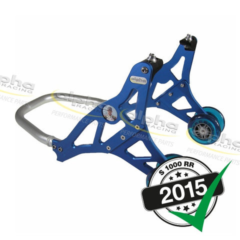 alpha Racing Aluminum Front Stand, Blue BMW S1000RR