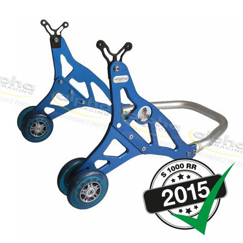 alpha Racing Aluminum Rear Stand, Blue BMW S1000RR