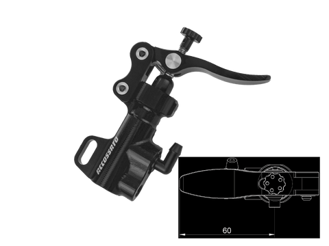 Accossato Thumb Brake Master Cylinder w/ Mount Bracket (Standard Lever), Part Number: ACC-BP002