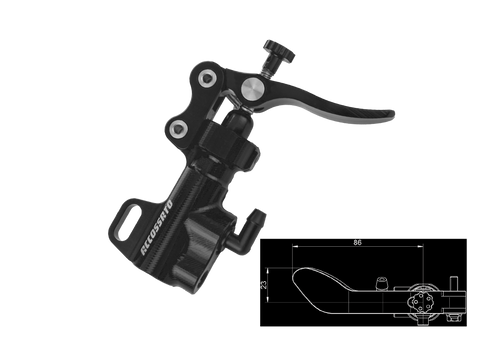 Accossato Thumb Brake Master Cylinder w/ Mount Bracket (Curved Lever), Part Number: ACC-BP006