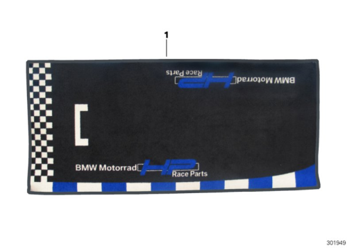 BMW MOTORRAD HP RACE PIT CARPET, BMW S1000RR Part Number: 77028543243