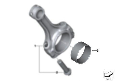 BMW S1000RR CONNECTING ROD BEARING SHELL, VIOLET (2015-)