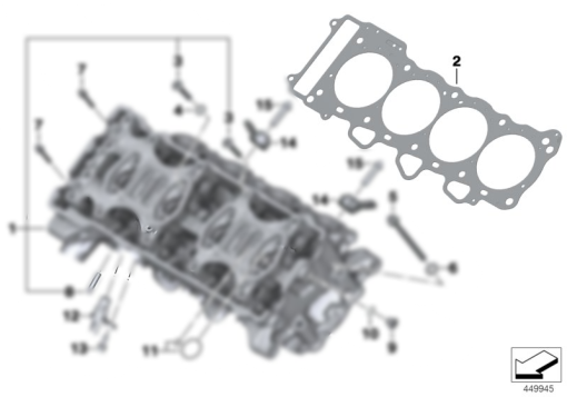 BMW S1000RR CYLINDER HEAD GASKET – 1.025MM 1-LOCH (2012-2014)