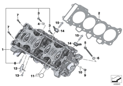 BMW S1000RR CYLINDER HEAD - GASKET RING - A10X13.5-AL (2015-) Part Number: 07119963073