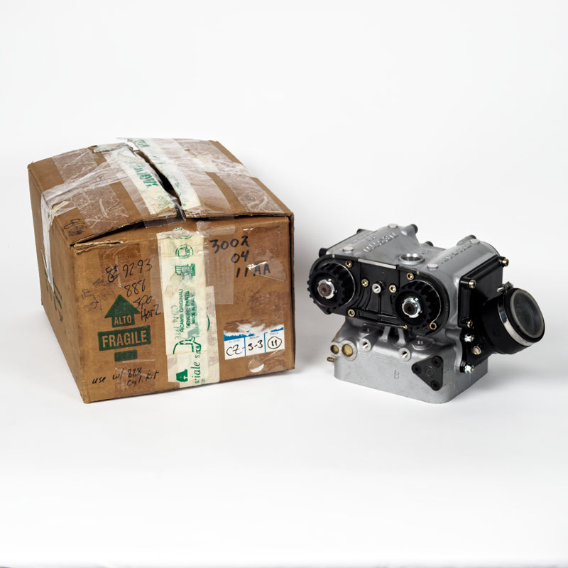 NOS 1992-1993 DUCATI SPO Complete Cylinder Head (Horiz. or Vertical).  Part Number: 3002 0411 AA (Horizontal Head)  Part Number: 3002 0401 AA (Vertical Head)