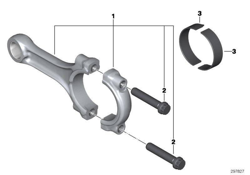 R 1200 GS, 2013- Water Cooled (USA) Connecting rod with bearing, Connecting rod, Part Number: 11248530263