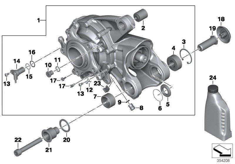 K 1200 R (USA) Right-angle gearbox Integral ABS Gen. 2, Cable holder, Part Number: 34517695906