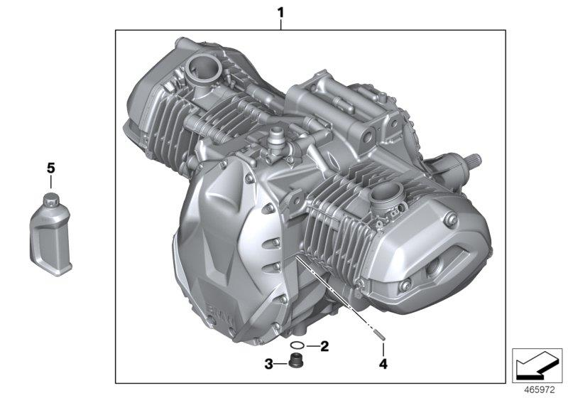 R 1200 GS, 2013- Water Cooled (USA) Engine, Motor oil ADVANTEC 5W-40, Part Number: 83212365958