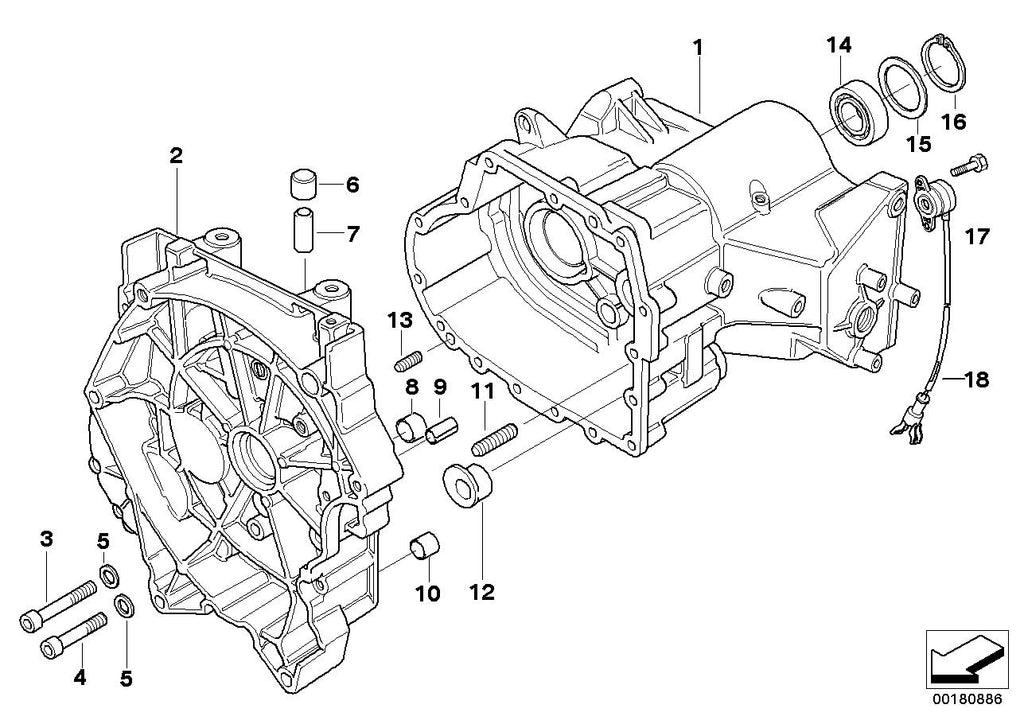 R 1100 R, 1995- (USA) Transmission housing/mounting parts, Bush, Part Number: 23111451013