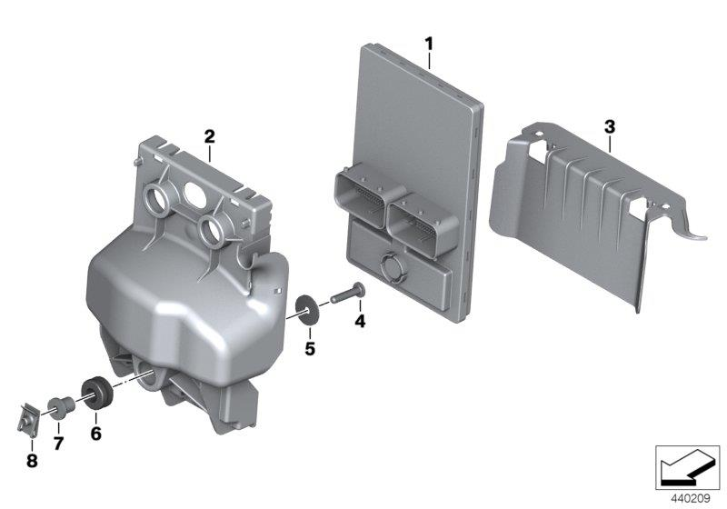 F 800 GS Adventure, 2012-'15 (USA) Central chassis electronics, Collar bush, Part Number: 61357707360