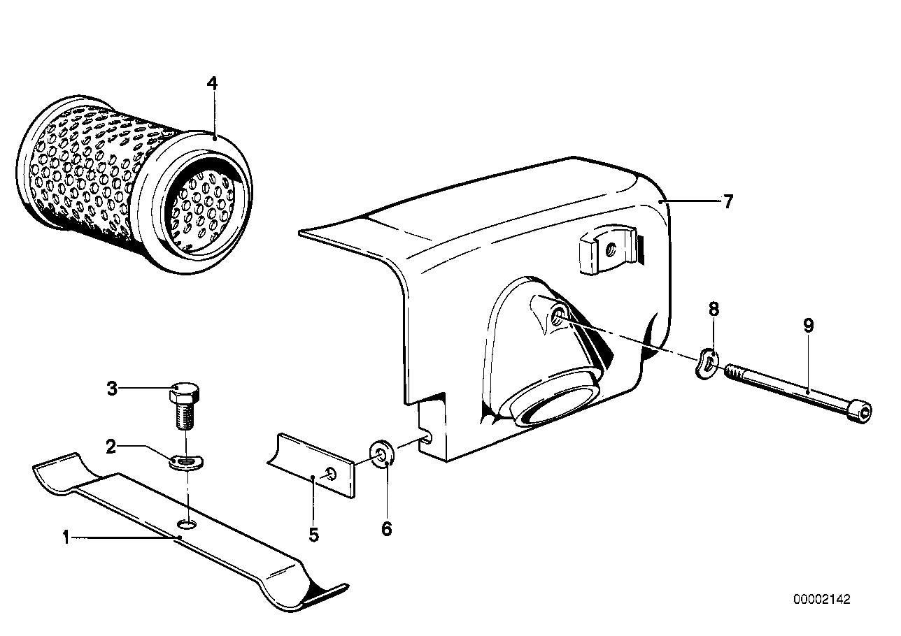 R 100 RT, 1979-'84 (USA) Air cleaner housing, Shim, Part Number: 34213060174