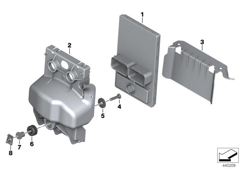F 800 GS Adventure, 2012-'15 (USA) Central chassis electronics, Rubber grommet, Part Number: 31421232245