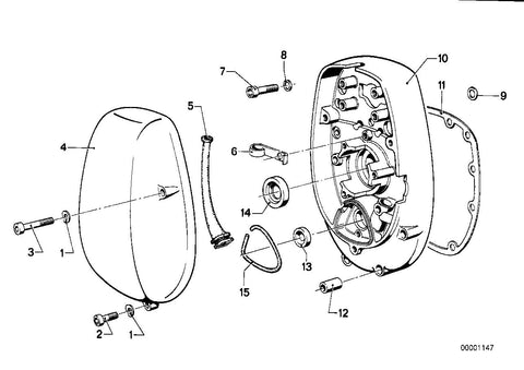 R 75 /7 (USA) Cover, Holder, Part Number: 11141253245