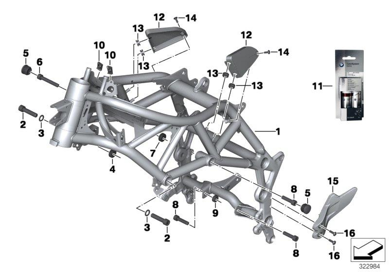 F 800 GS Adventure, 2012-'15 (USA) Front frame, Front frame, Part Number: 46518558888