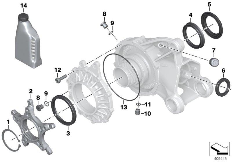 R 1200 GS, 2013- Water Cooled (USA) Right-angle gearbox, single parts, O-ring, Part Number: 33117695218
