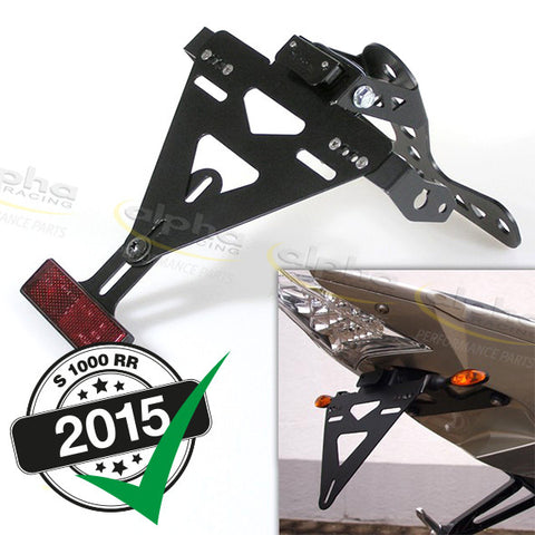 alpha Racing Stainless License Plate Bracket BMW S1000RR