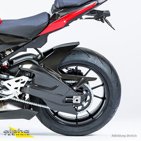 alpha Technik Carbon Rear Fender, Chain Guard, and Fin BMW S1000R/RR