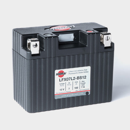 SHORAI LFX Lithium-Iron Powersports Battery Part Number: LFX07L2-BS12