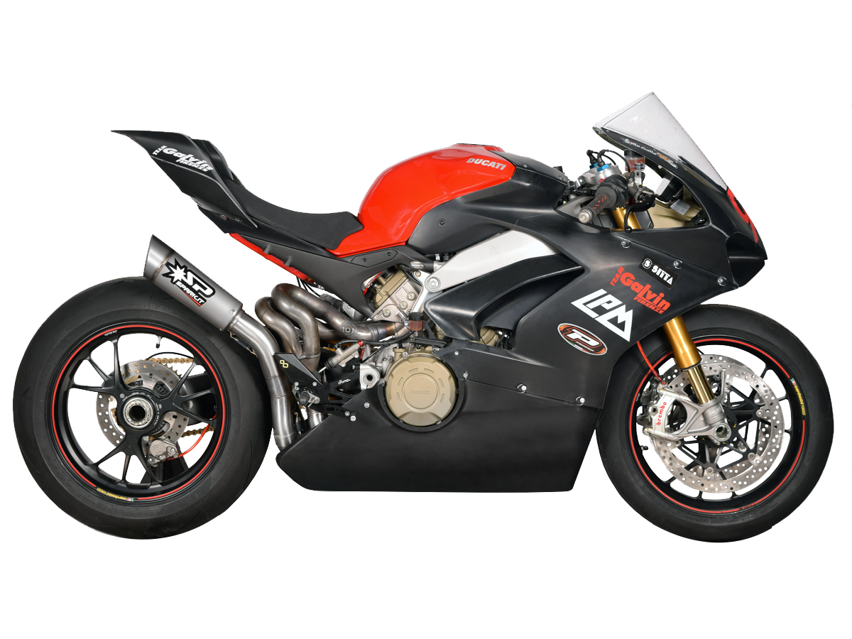 "Spark Ducati Panigale V4 ""Grid"" Titanium Semi-Full Exhaust System, Part Number: SP-GDU8820T"