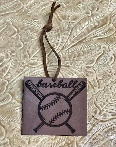 LEATHER CAR SCENTS - BASEBALL - Coyote Blu
