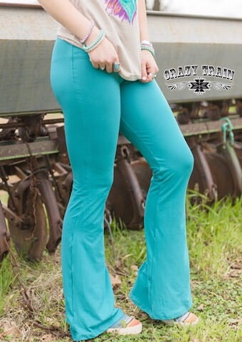 BELL AIR FLARES - TEAL - Coyote Blu