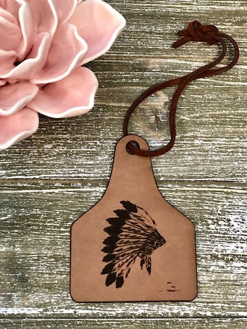 LEATHER CAR SCENTS - INDIAN HEADDRESS - Coyote Blu