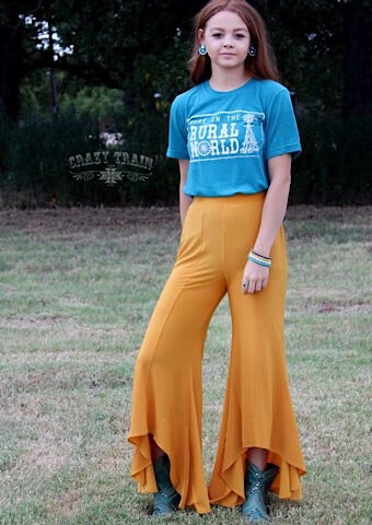 "CRAZY TRAIN ""PALTROW"" PANT - MUSTARD - Coyote Blu"