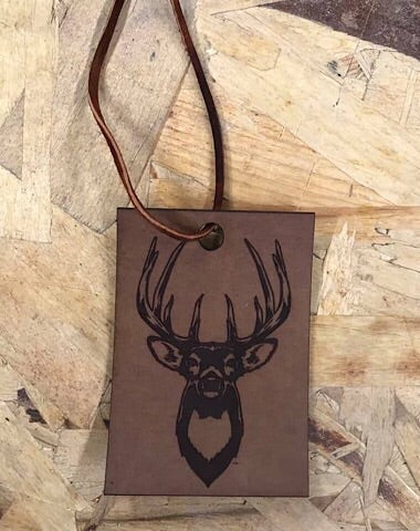 LEATHER CAR SCENTS - TROPHY BUCK - Coyote Blu