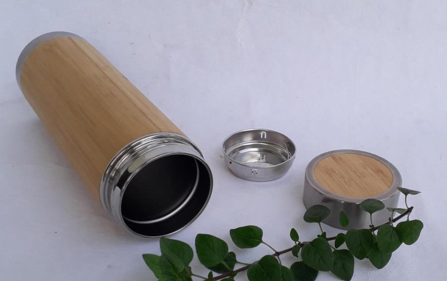 Bamboo Steel Flask - 450 ml - Flasks - indic inspirations