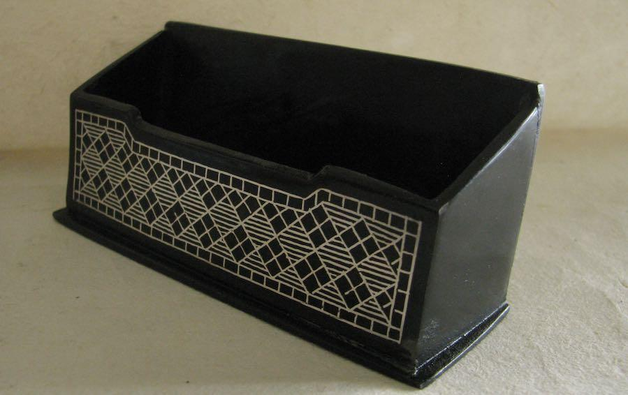 BIDRI - Open Business Card Holder - Card holders - indic inspirations