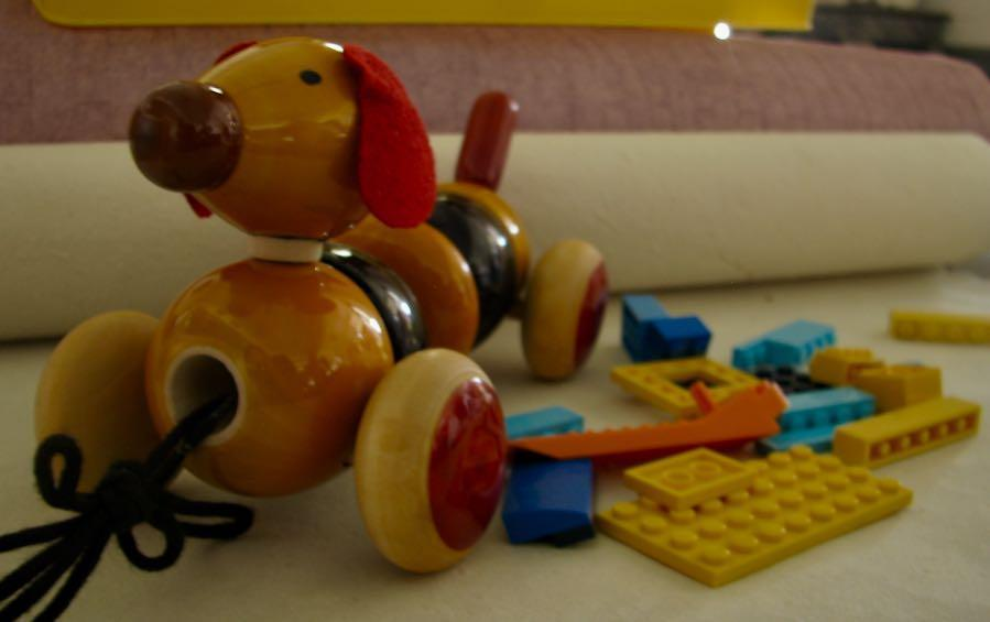 BOWVOW- PULL ALONG DOGGIE - Wooden Toy - indic inspirations