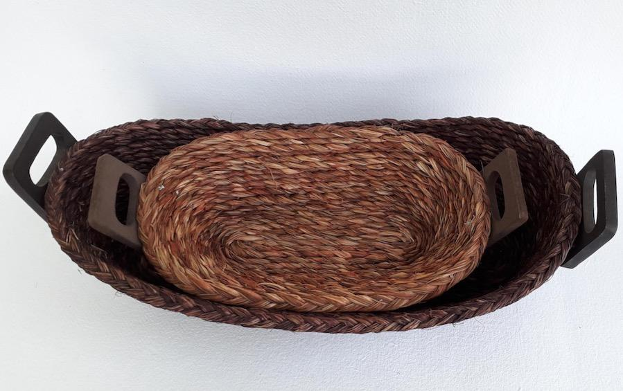 Bread Basket Set of 2 :: Large & Small - Baskets - indic inspirations