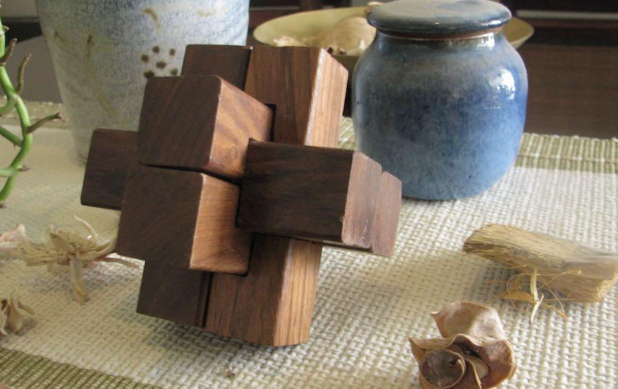 Burr puzzle- Intersecting Logs- 6 Piece - puzzles - indic inspirations