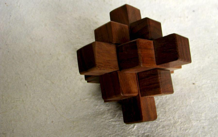 Burr puzzle- Intersecting Logs- 9 Piece - puzzles - indic inspirations