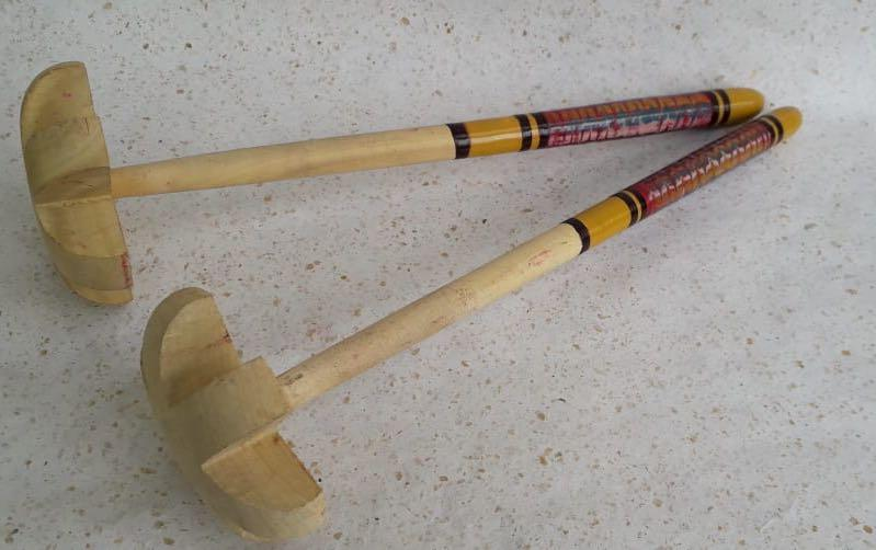 Buttermilk Churner: Lac-Turned Wood Set of 2 - Kitchen tools - indic inspirations