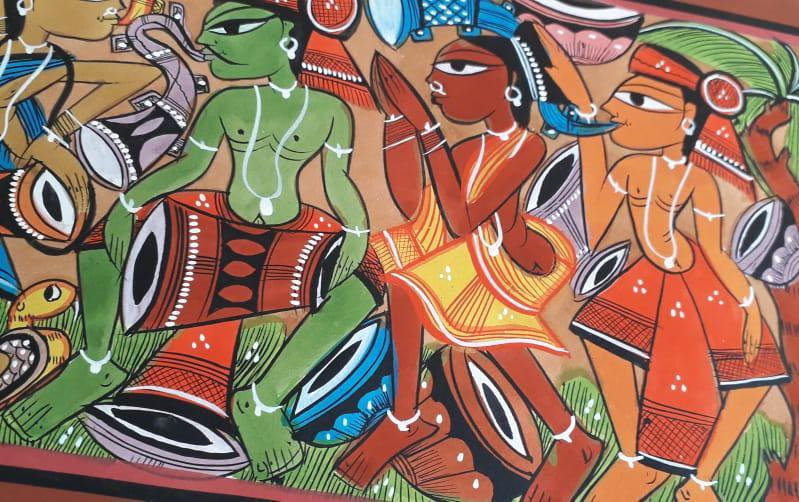 CELEBRATION - SANTHAL PAINTINGS – indic inspirations