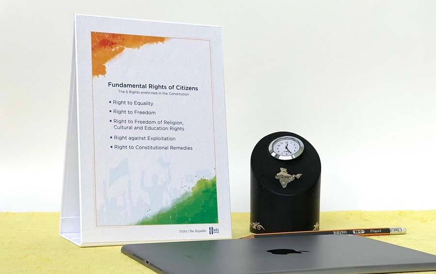 Citizens' Fundamental Rights Desk Plaque - Desk plaques - indic inspirations