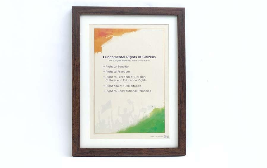 Citizens' Fundamental Rights Wall Frame - Wall Frames - indic inspirations