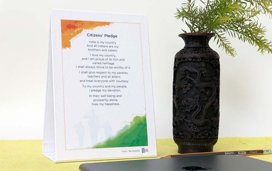 Citizens' Pledge - Desk Plaque - Desk plaques - indic inspirations