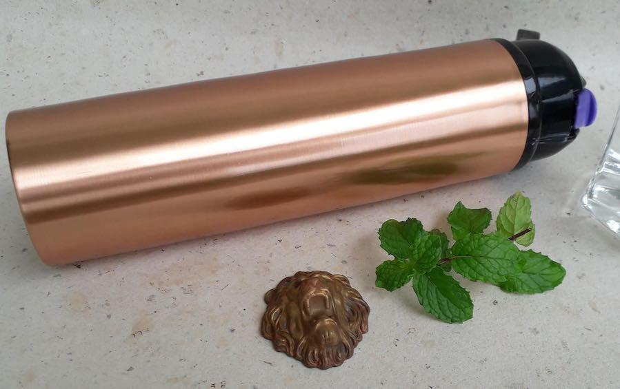 Copper Water Bottle with Sipper Cap - Water Bottles - indic inspirations