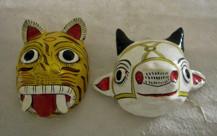 COW & TIGER Mask Pair - Masks - indic inspirations