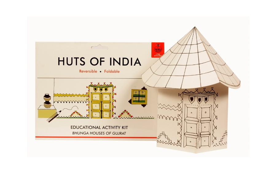 DIY Colouring Kit - Bonga Huts of Gujrat - Craft Kit - indic inspirations