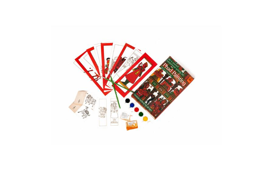 DIY Colouring Kit - Phad Painting of Rajasthan - Craft Kit - indic inspirations