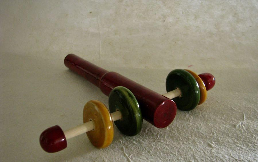 Four Wheel Rattle - Wooden Toys - indic inspirations