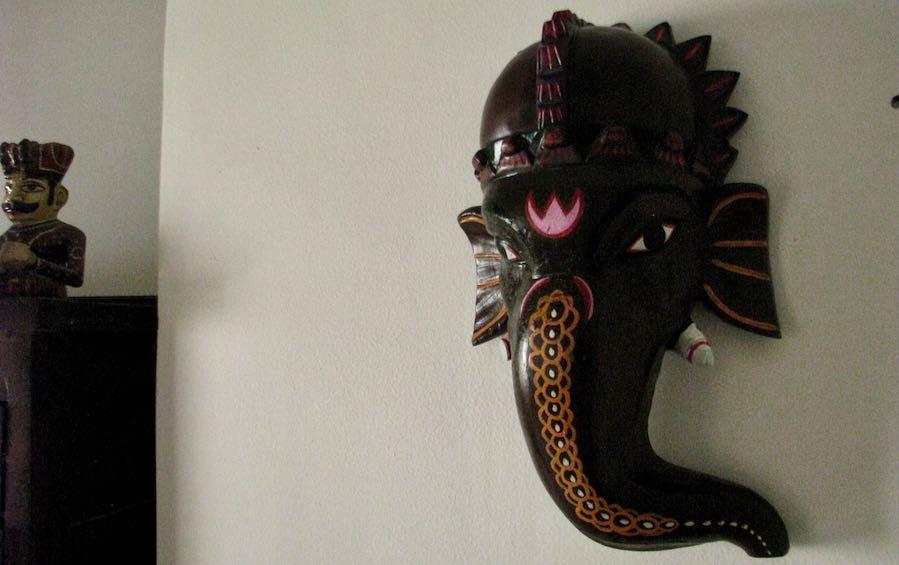 Ganesha Wooden Mask - Masks - indic inspirations