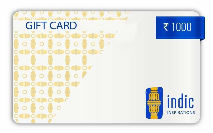 GIFT CARD - ₹1000 - Gift Card - indic inspirations